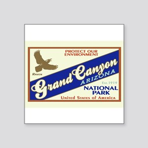 Grand Canyon (Raven) Rectangle Sticker