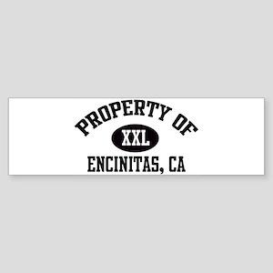 Property of ENCINITAS Bumper Sticker