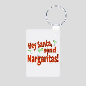 Send Margaritas Aluminum Photo Keychain