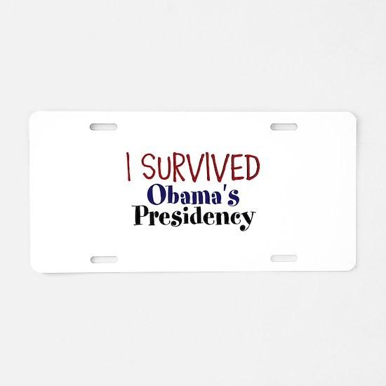 I Survived Obamas Presidency Aluminum License Plat