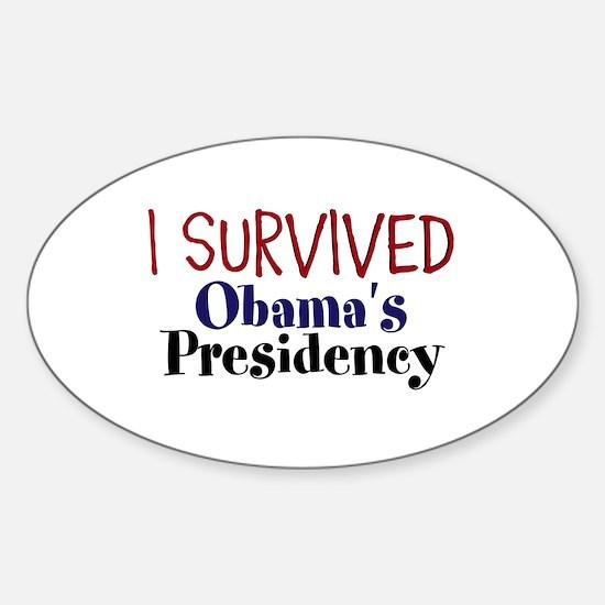I Survived Obamas Presidency Sticker (Oval)