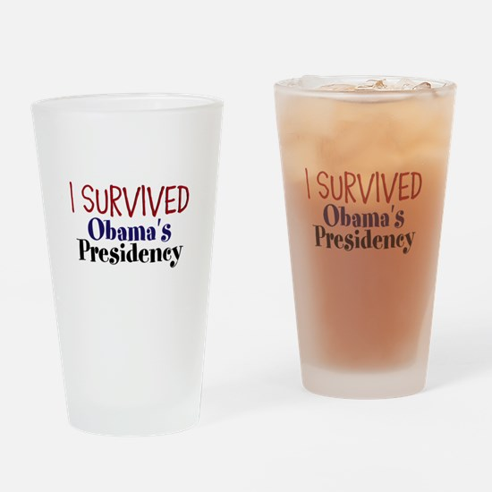 I Survived Obamas Presidency Drinking Glass