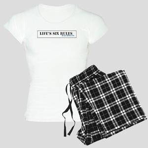 Lifes Six Rules Women's Light Pajamas