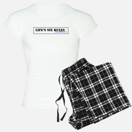 Lifes Six Rules Pajamas