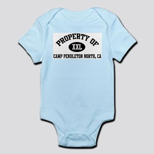 Property of CAMP PENDLETON NO Infant Creeper