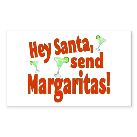 Send Margaritas Sticker (Rectangle)