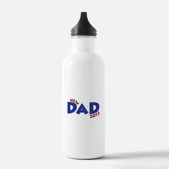 New Dad Est 2013 Water Bottle