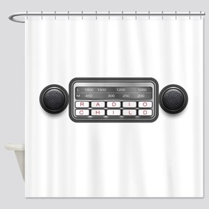 Radio Child Shower Curtain
