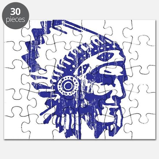 Blue Indian Vintage Puzzle