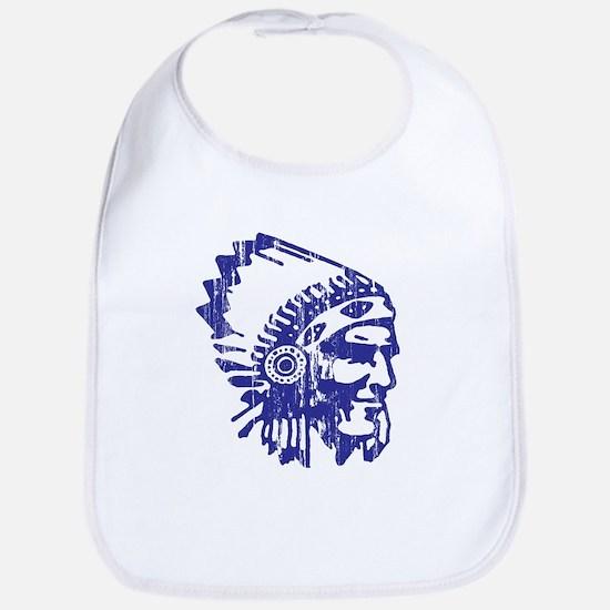 Blue Indian Vintage Bib