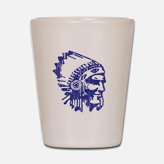 Blue Indian Vintage Shot Glass