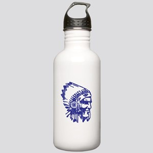 Blue Indian Vintage Stainless Water Bottle 1.0L