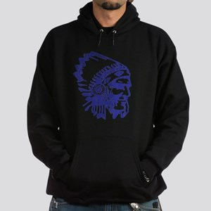 Blue Indian Vintage Hoodie (dark)