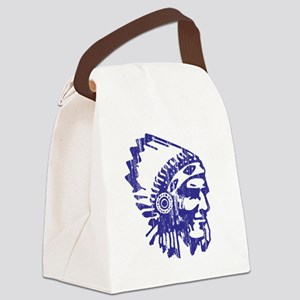 Blue Indian Vintage Canvas Lunch Bag