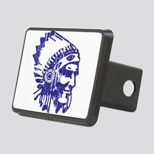 Blue Indian Vintage Rectangular Hitch Cover