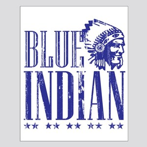 Blue Indian Head Dress Vintage Small Poster