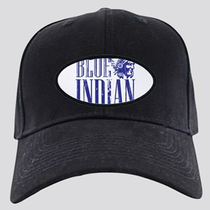 Blue Indian Head Dress Vintage Black Cap
