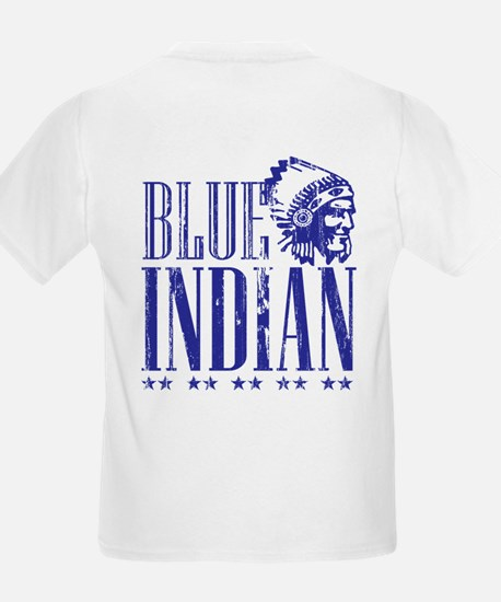 Blue Indian Head Dress Vintage T-Shirt