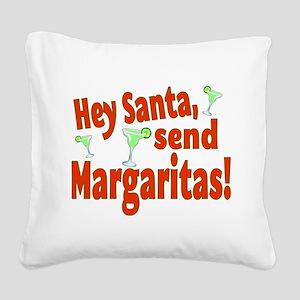 Send Margaritas Square Canvas Pillow