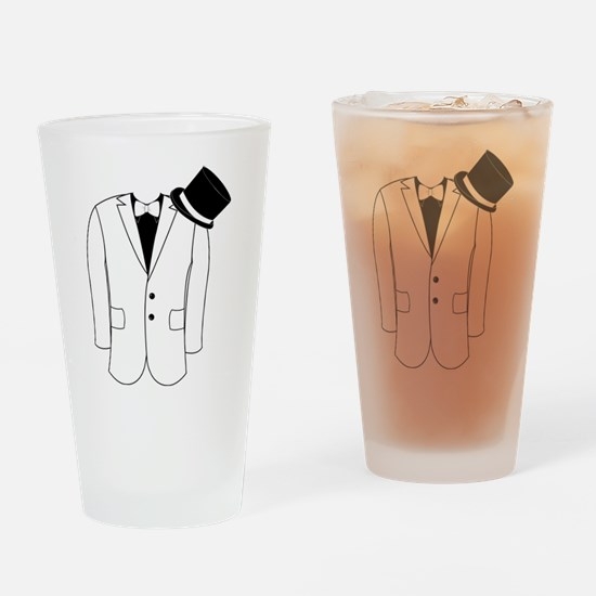 Coat And Top Hat Drinking Glass