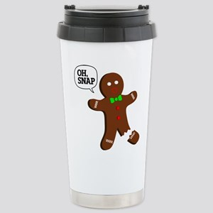 Oh, Snap! Funny Gingerbread Christmas Gift Stainle