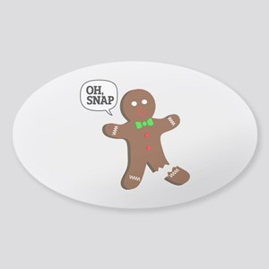 Oh, Snap! Funny Gingerbread Christmas Gift Sticker