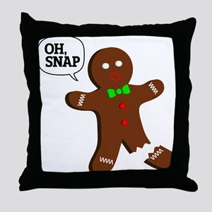 Oh, Snap! Funny Gingerbread Christmas Gift Throw P