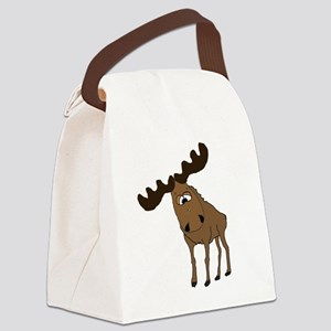 Cute moose Canvas Lunch Bag