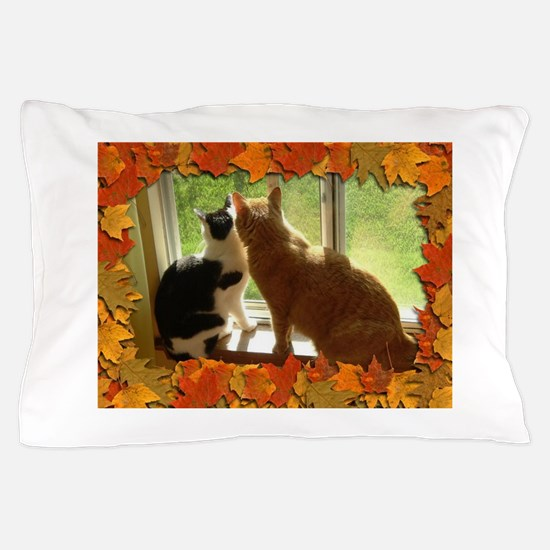 Autumn Cats/Orange Tabby Pillow Case