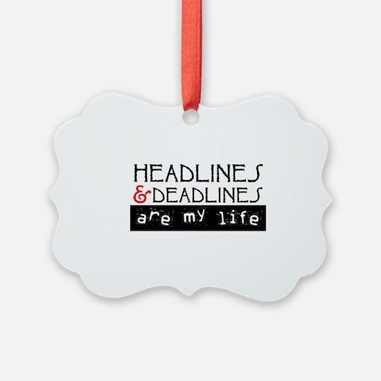 Cute News media Ornament