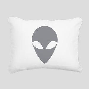 GREY ALIEN Rectangular Canvas Pillow