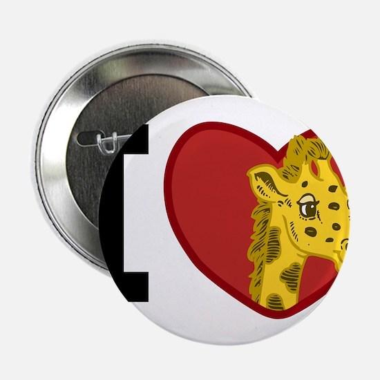 """I Love Giraffes 2.25"""" Button"""