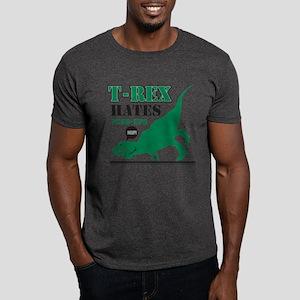 T-Rex Hates Push Ups Dark T-Shirt