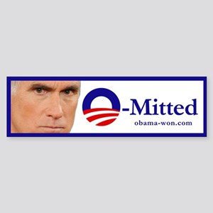 """Romney """"O-Mitted"""" sticker"""