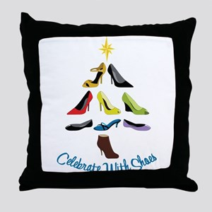 Celebrate With Shoes Throw Pillow