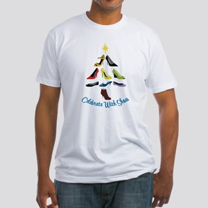 Celebrate With Shoes Fitted T-Shirt