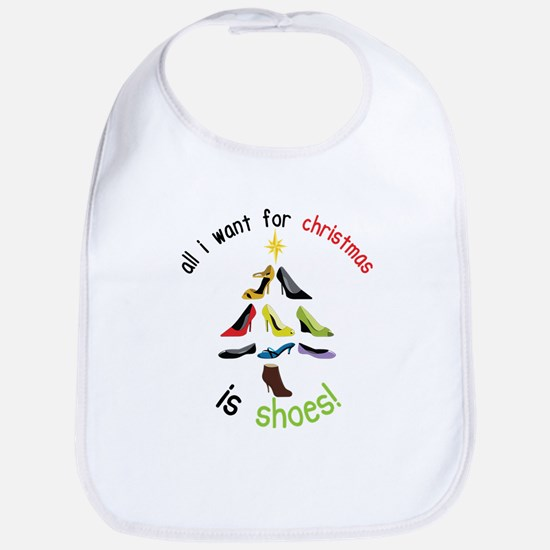 Shoes for Christmas Bib