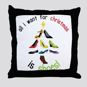 Shoes for Christmas Throw Pillow