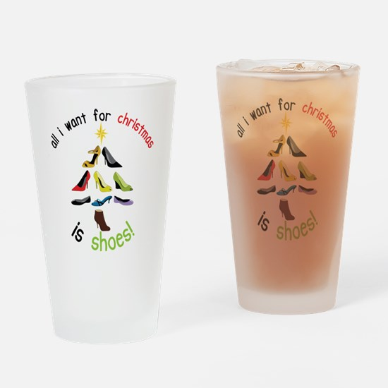 Shoes for Christmas Drinking Glass