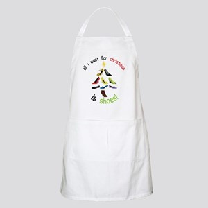 Shoes for Christmas Apron