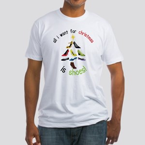 Shoes for Christmas Fitted T-Shirt