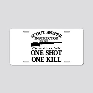 Scout-Sniper Instructor Aluminum License Plate