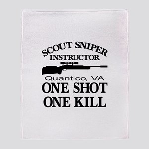 Scout-Sniper Instructor Throw Blanket