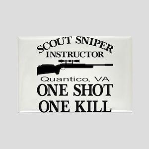 Scout-Sniper Instructor Rectangle Magnet