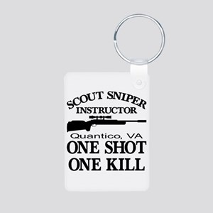 Scout-Sniper Instructor Aluminum Photo Keychain