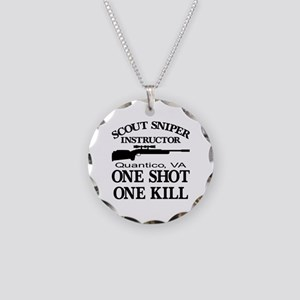 Scout-Sniper Instructor Necklace Circle Charm
