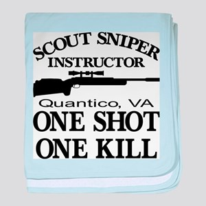 Scout-Sniper Instructor baby blanket