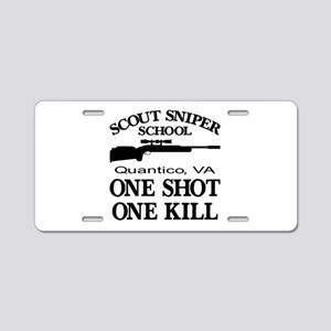 Scout-Sniper School Aluminum License Plate