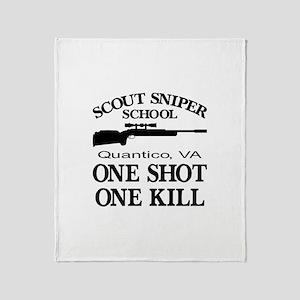 Scout-Sniper School Throw Blanket