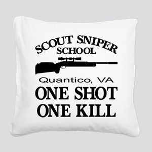Scout-Sniper School Square Canvas Pillow